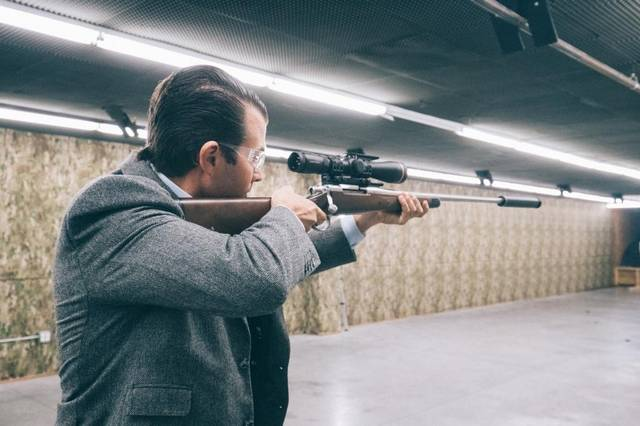Donald Trump Jr. Firing Suppressed Rifle