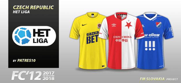 Football Manager 2018 Kits - FC'12 Czech HET liga kits 2017/18