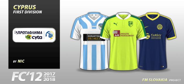 Football Manager 2018 Kits - FC'12 Cyprus Cyta Championship kits 2017/18