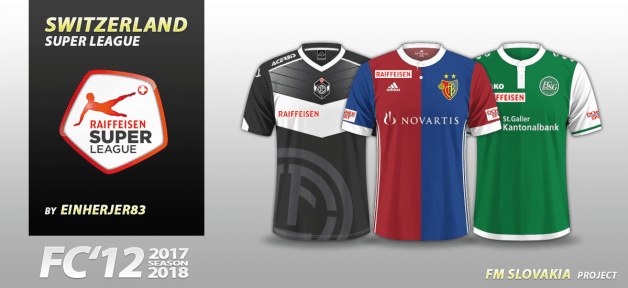Football Manager 2018 Kits - FC'12 Switzerland Super League 2017/18 kits