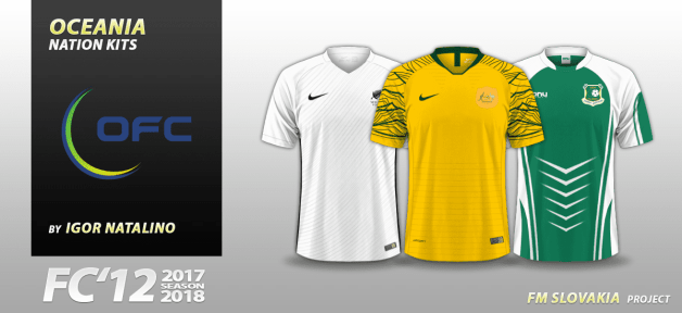 Football Manager 2018 Kits - FC'12 Nations – Oceania [World Cup edition]