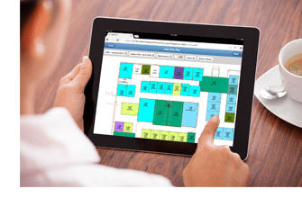 Building floor plan on a mobile device
