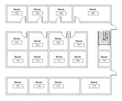 Room numbering with multiple corridors