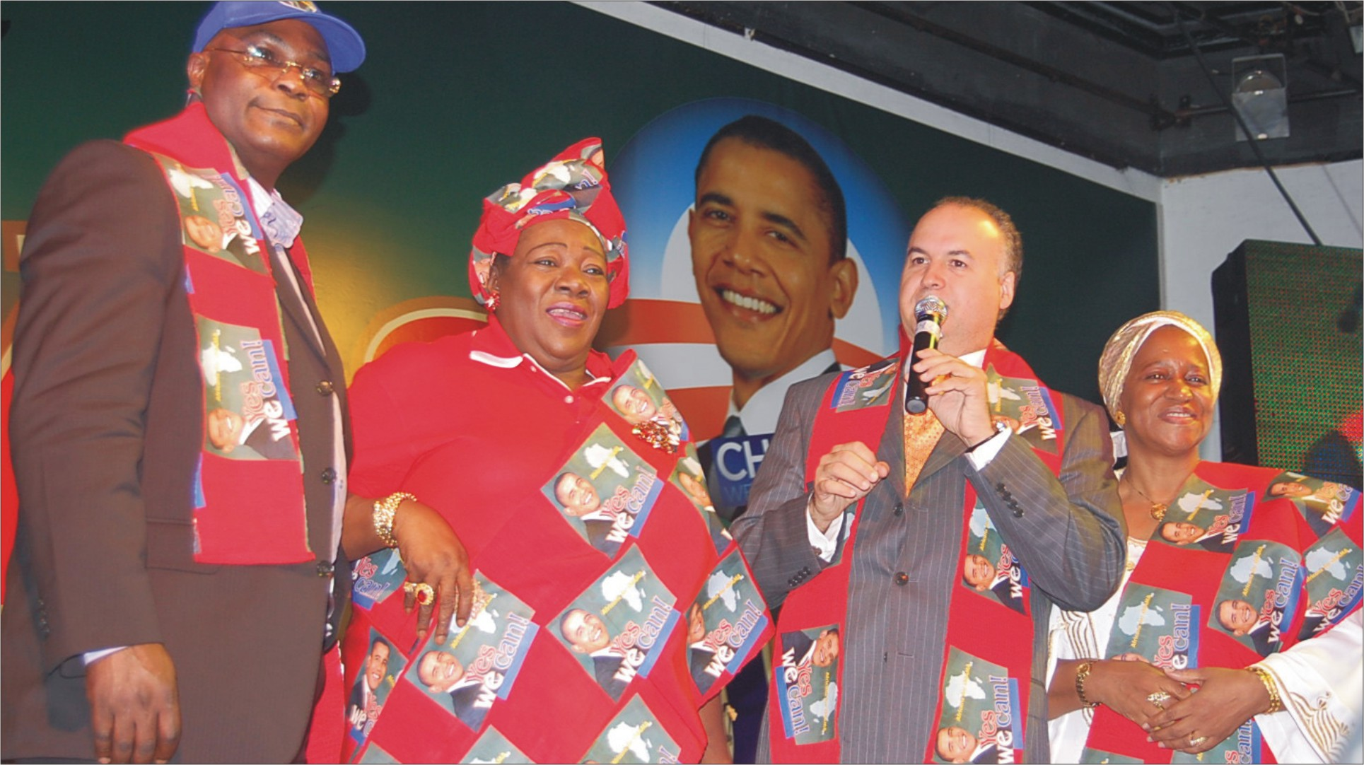 Ndi (second from left) during her campaign for Obama presidency