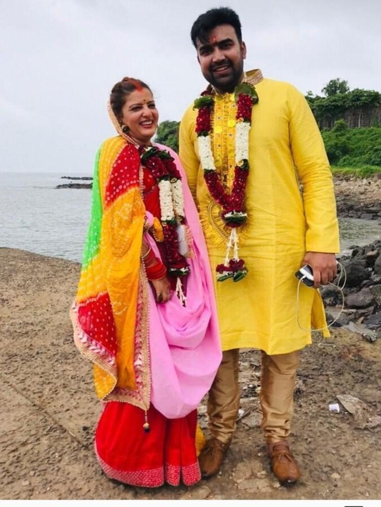 Sandeep Nahar wife Kanchan Sharma photos