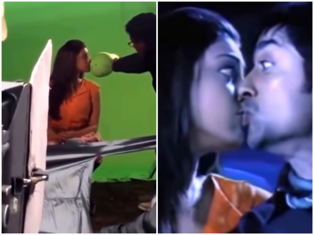 Do actors and actresses kiss on screen bollywood Hollywood