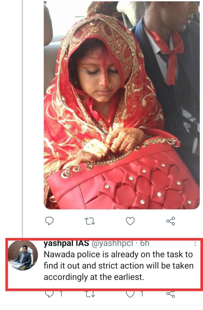 4 year old married 28 year old in Bihar Nawada