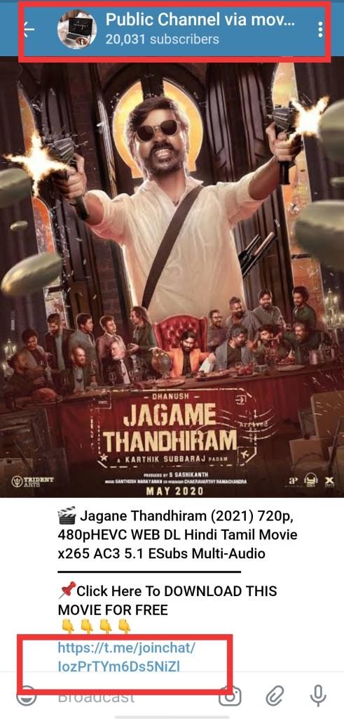 jagame thadhiram free download movie hindi telegram link