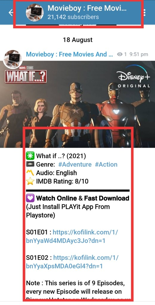 what if marvel series telegram channel link free download