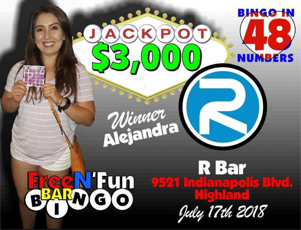 Jackpot Winner 2018 Alejandra A