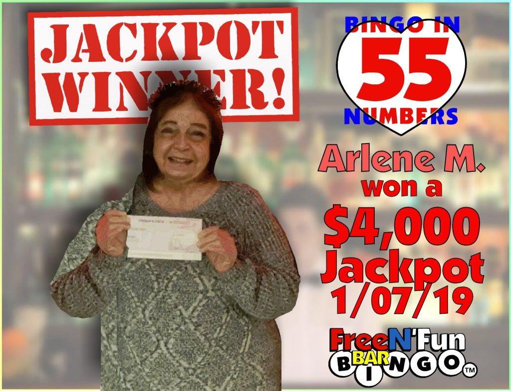 Jackpot Winner 2019 Arlene