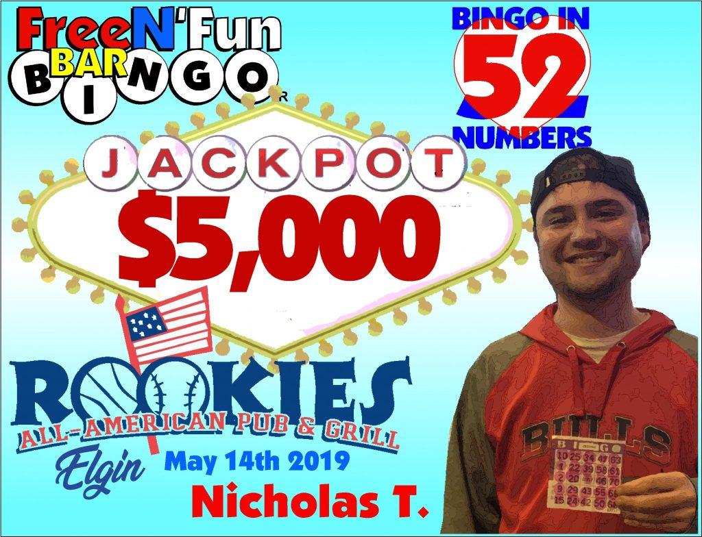 Jackpot Winner 2019 Nicholas