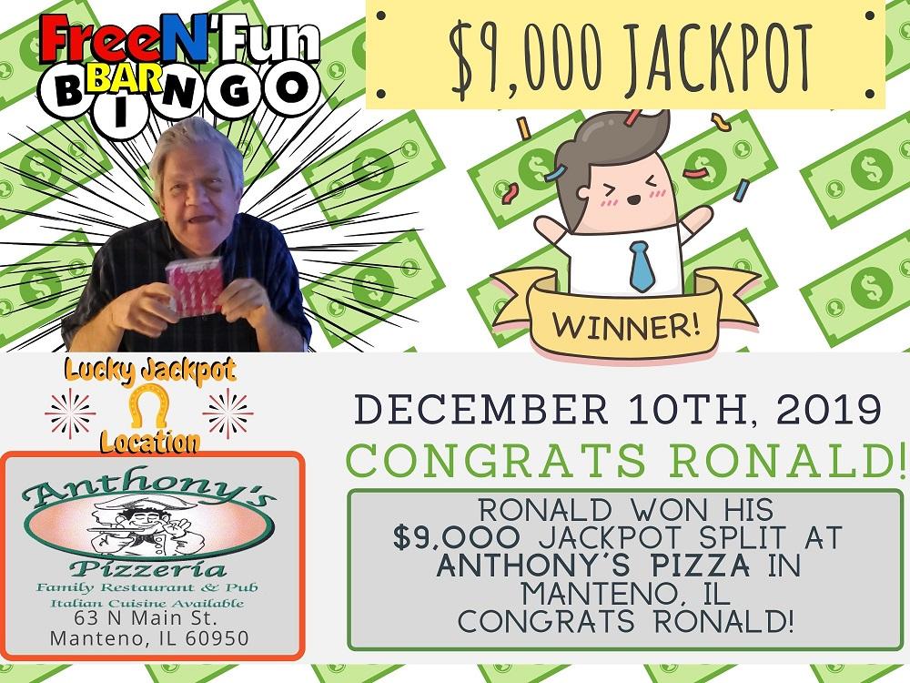 Jackpot Winner 2019 Ronald
