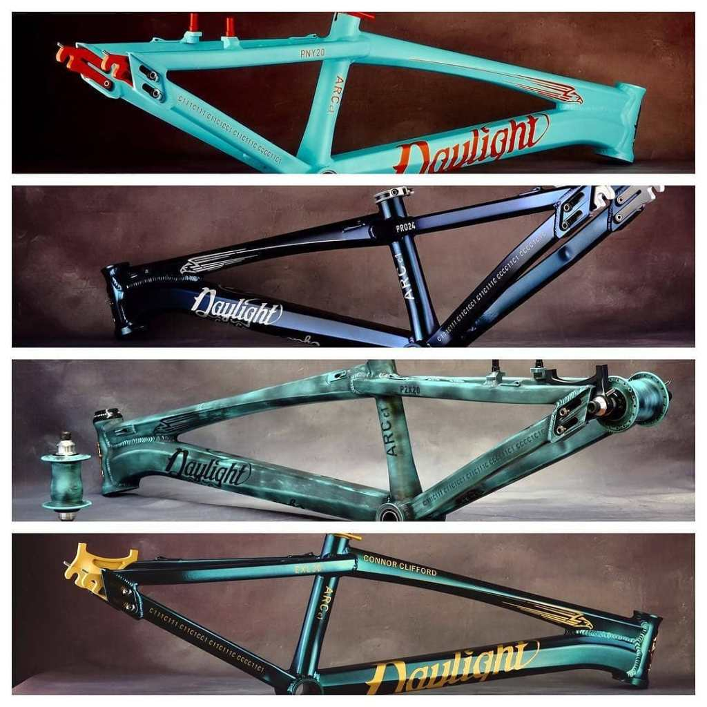 Multiple custom bicycle frames - About FNG Precision Coatings