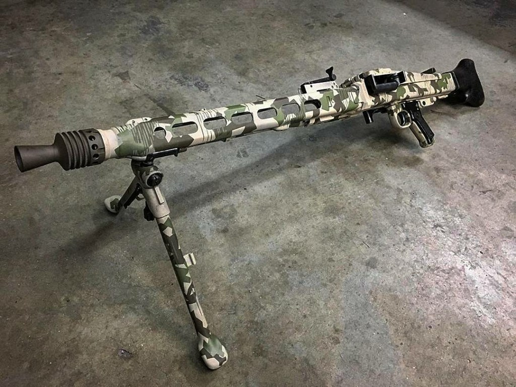 Military rifle (weapon system) with ceramic multicam coating, by FNG Precision Coatings