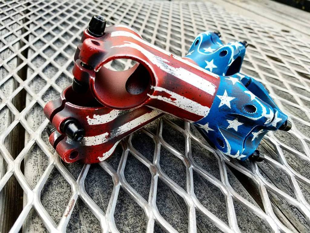 Your product with custom designed Patriotic Battleworn theme Ceramic Coating for great looks and corrosion protection