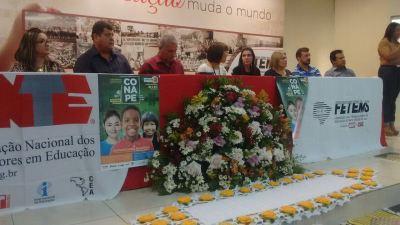 04/09/2017 - Solenidade de abertura do Lançamento da Etapa Estadual da Conferência Nacional Popular de Educação – CONAPE