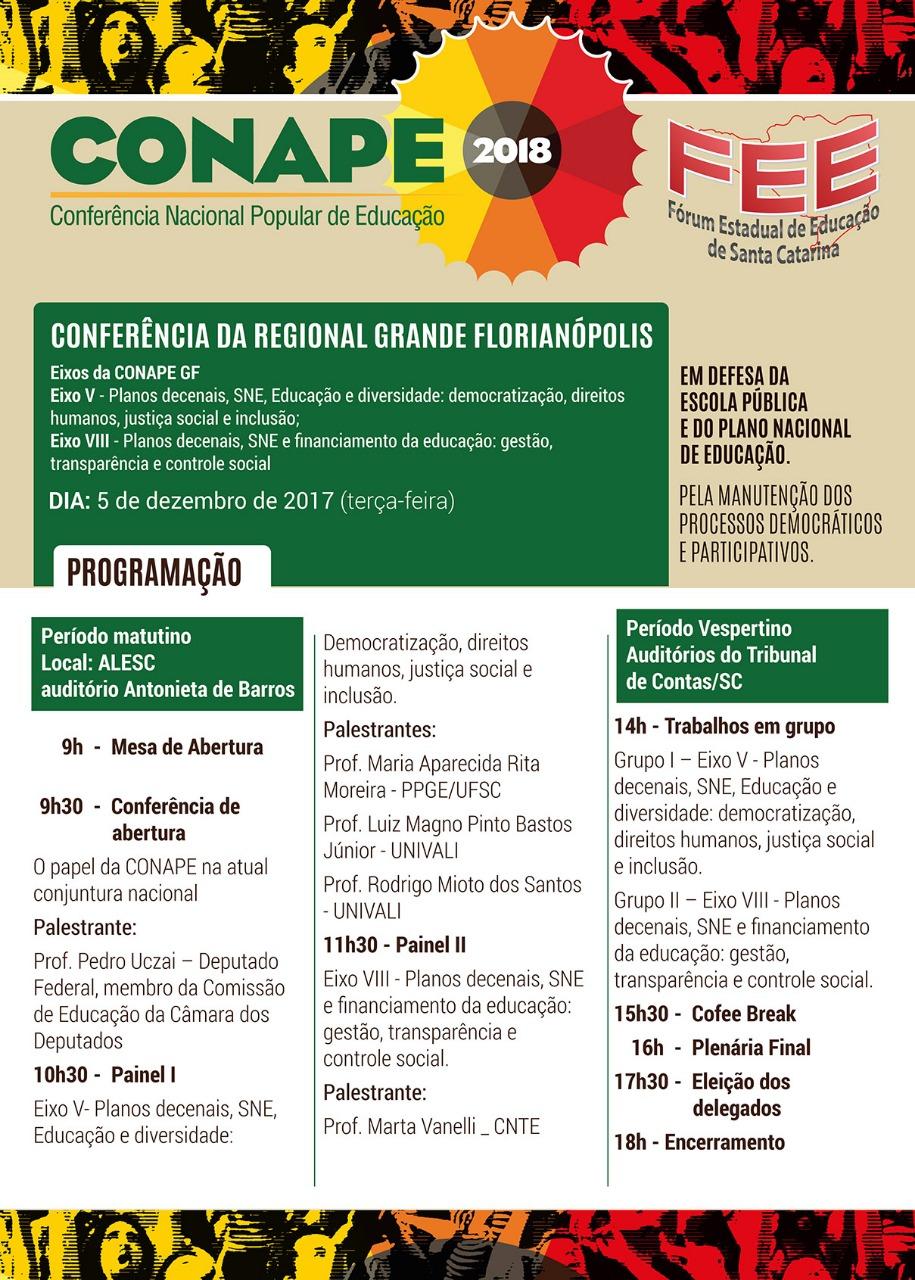 [SC] Conferência Regional da Grande Florianópolis