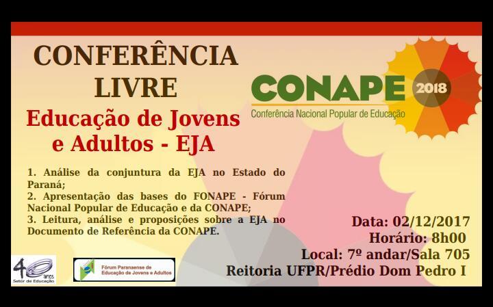 [PR] Conferência Livre de Curitiba @ Universidade Federal do Paraná