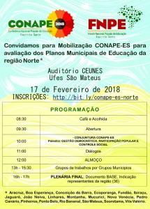 [ES] Mobilização CONAPE para avaliação dos Planos Municipais de Educação da Região Norte @ Auditório da CEUNES - Ufes São Mateus