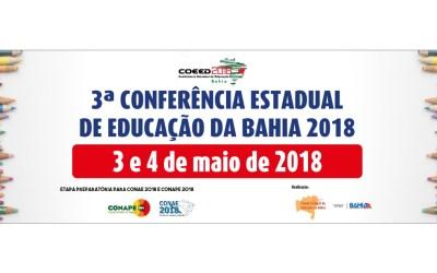 [BA] 3ª Conferência Estadual de Educação da Bahia