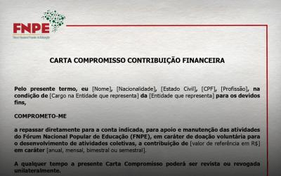 CARTA COMPROMISSO CONTRIBUIÇÃO FINANCEIRA