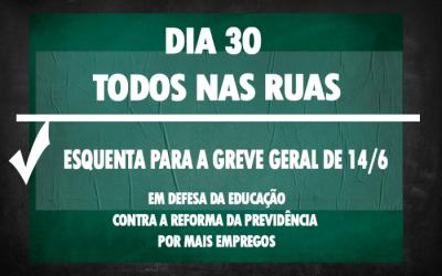 Entidades do Fórum Nacional Popular da Educação vão reforçar atos do dia 30