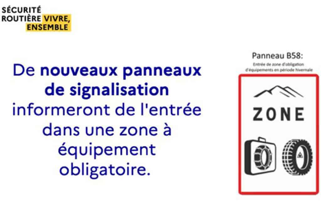Conduite en période hivernale en montagne : Nouvelle réglementation des pneumatiques.