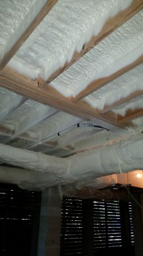 Closed cell foam under house.