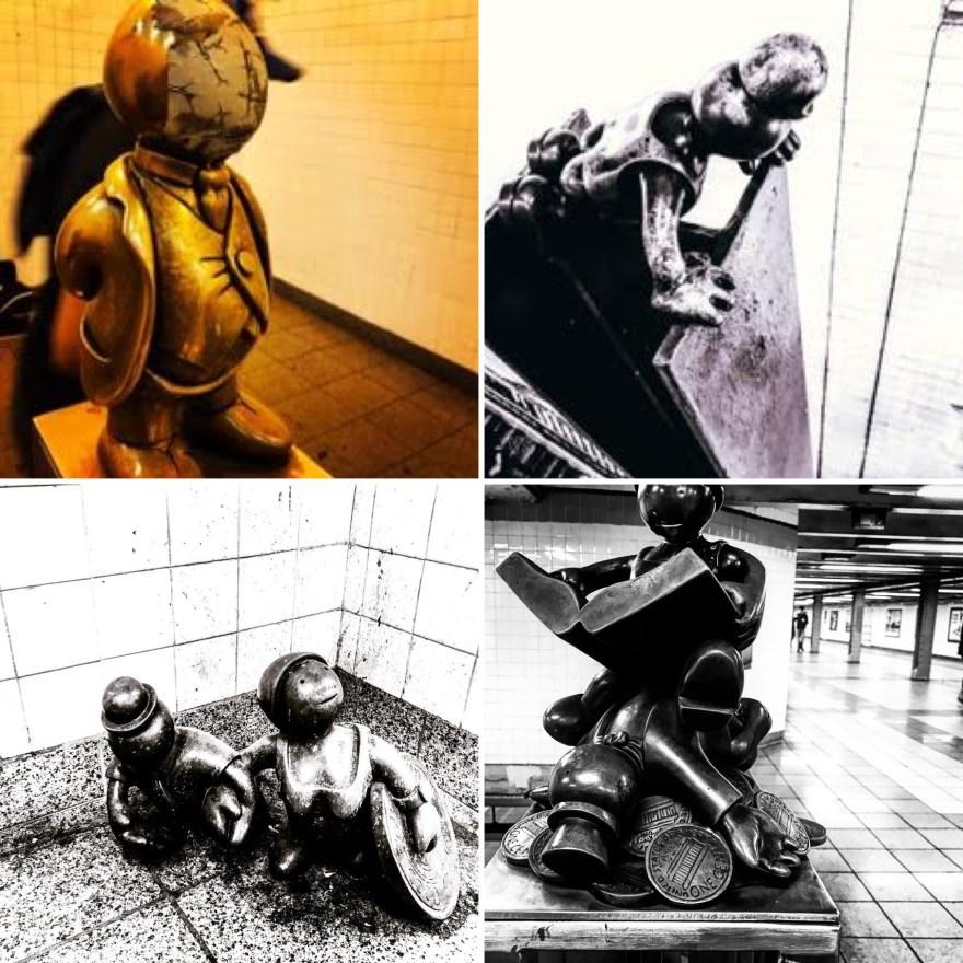 Tom Otterness's bronze sculptures
