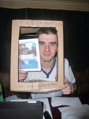 CoLeeds 2016: organiser Callum finds his calling as a programme seller.