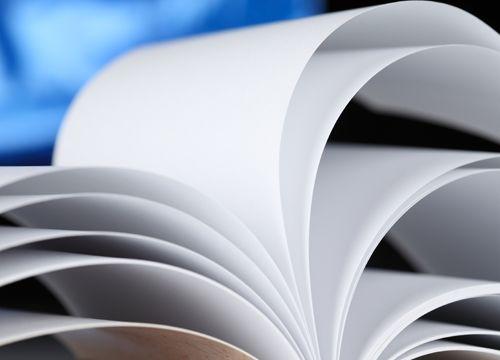 primer plano de libro abierto con hojas en blanco en abanico