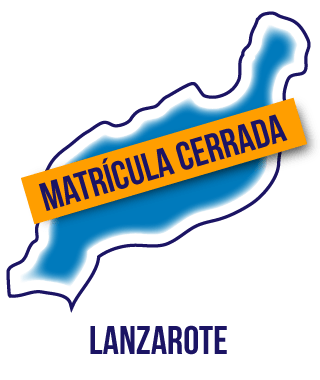 Silueta isla de Lanzarote. Matrícula cerrada cursos Ocupados