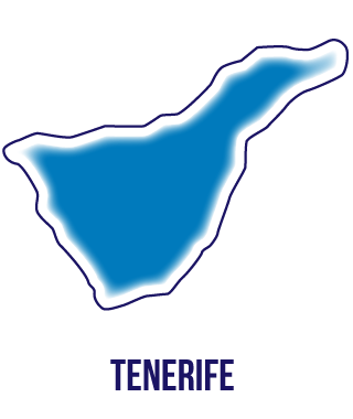 Silueta isla de Tenerife