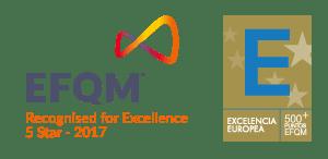 logotipo concedido al Instituto Focan de Excelencia Europea EFQM 500