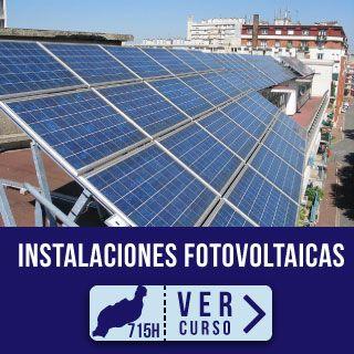 Vista panel fotovoltaico en azotea. Curso para desempleados Montaje y Mantenimiento Instalaciones Fotovoltaicas en Focan Lanzarote