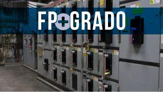 miniatura interior de central eléctrica y el texto FP+Grado