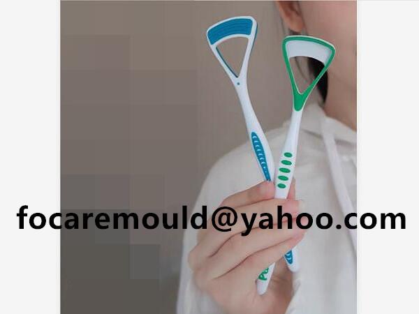 bi material tongue brush
