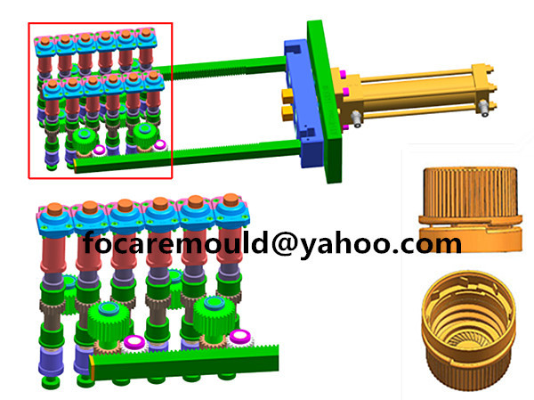 cap injection mold unscrew