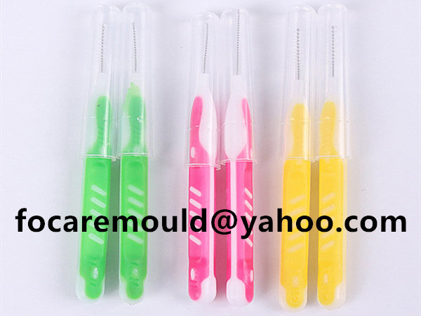 double injection orthodontic wire brush