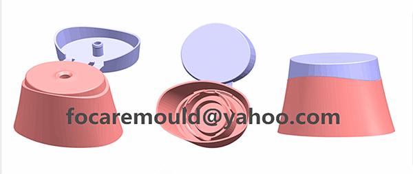 dual color snap top cap