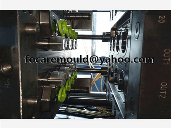 flip top cap injection mold 2k design