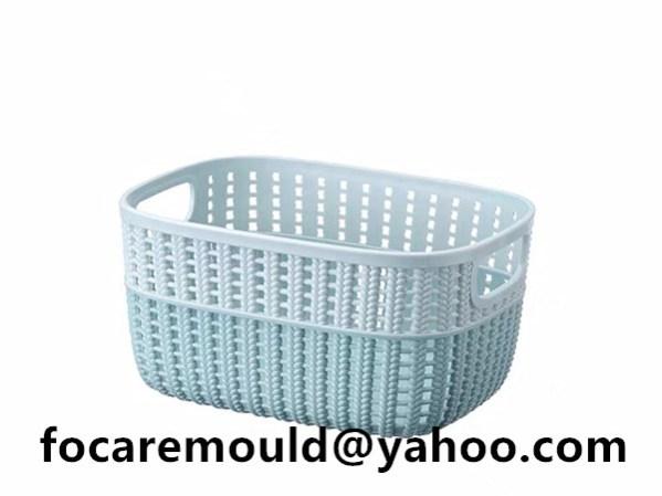 rattan basket injection mold 2k