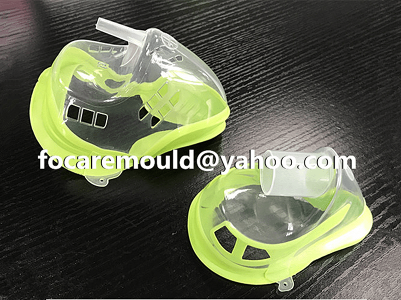 two color  nebulizer mask