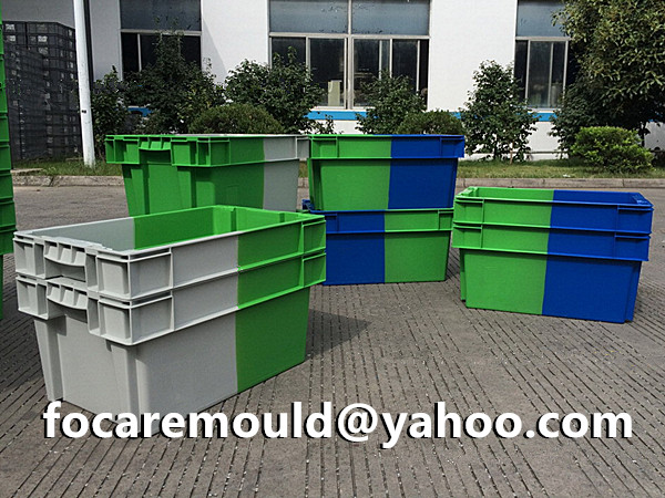 two color transport box mold