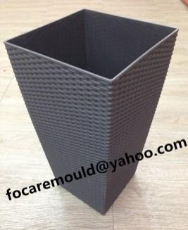 rattan design flower pot mould