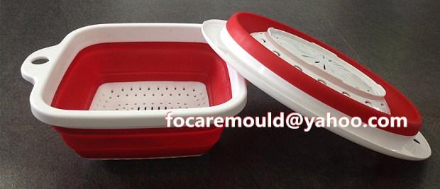 utensilios de cocina de plástico fabricante de moldes de dos colores