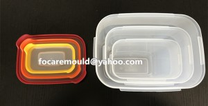 multi color food storage containers