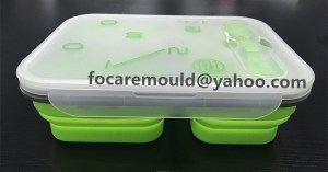 Silicone Collapsible Lunch Bento Box 2K