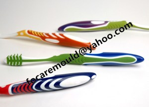 3 component toothbrush handle